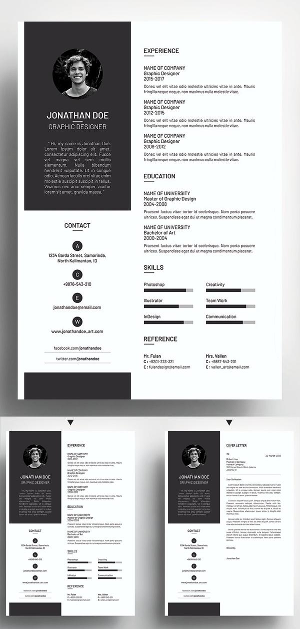 Clean & Simple Resume CV Template