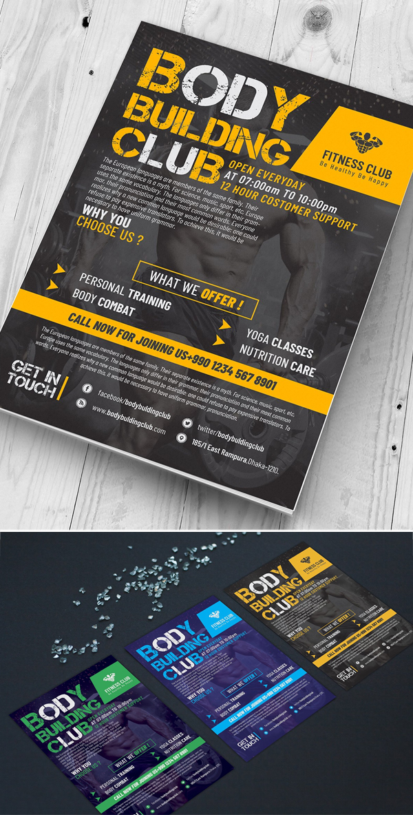 Body Building Club Flyer
