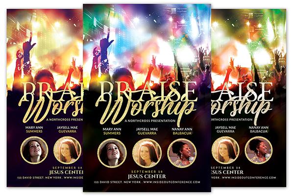 Praise Worship Church Flyer