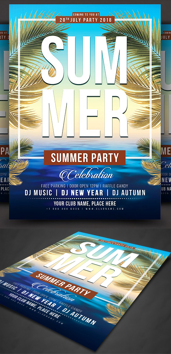 Creative Summer Party Flyer Template