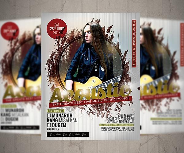 Acoustic Flyer / Poster Design