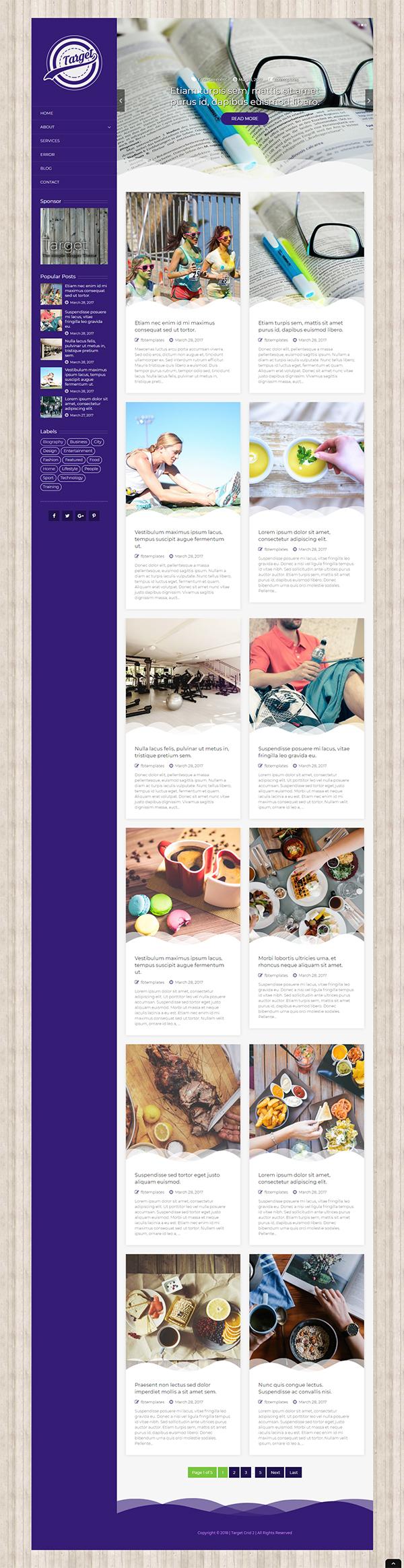 Target - Responsive Blogger Theme
