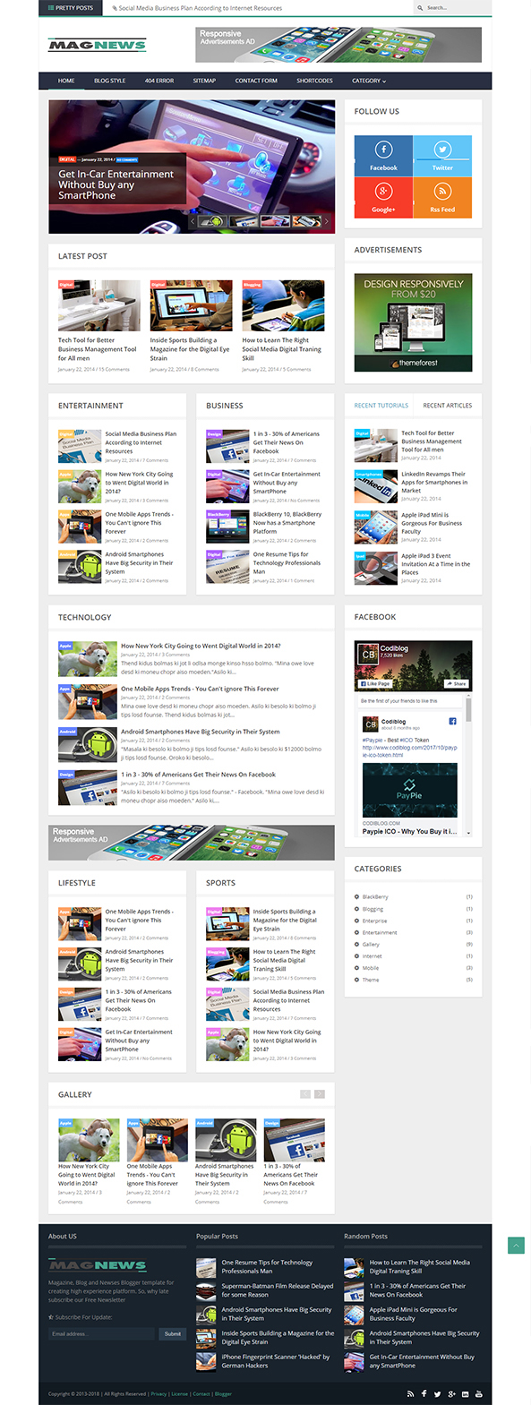 Cleanblog - A Responsive Blogging Blogger Template