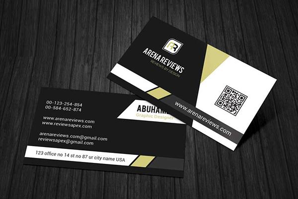 Free Modern Corporate Black & White Business Card