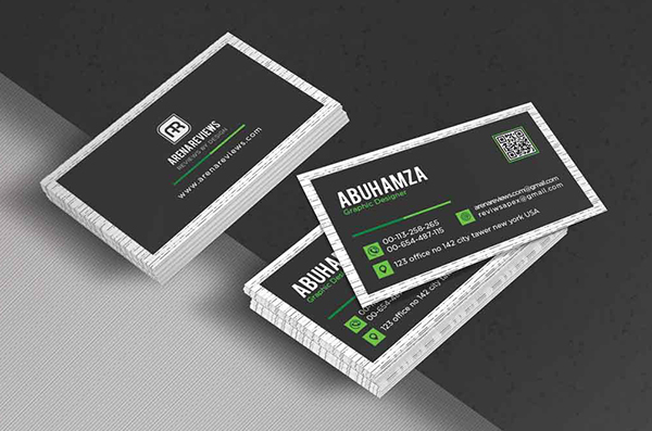Free Black and Green Corporate Business Card