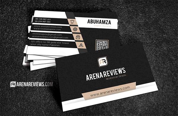 Free Creative Modern Black Pattern Business Card