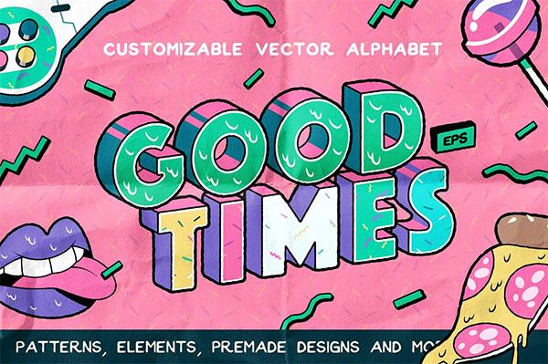 Good Times Alphabet & Graphic Set