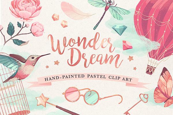 Wonderdream pastel clip art