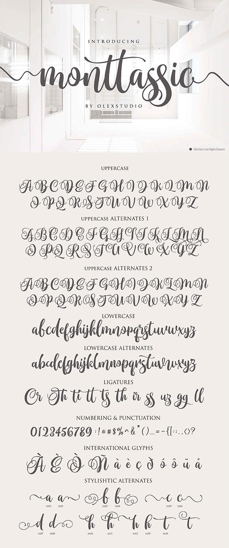 Monttassic - Luxury Script Font
