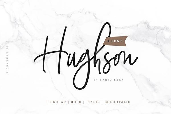 Hughson Script Font