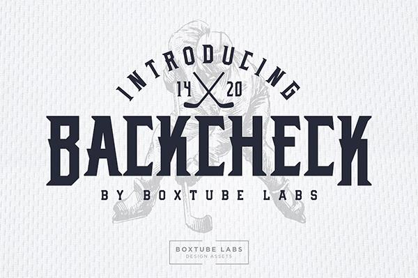 Backcheck Sports Font