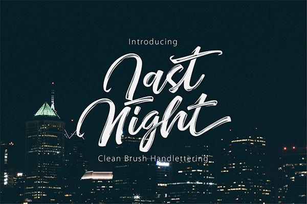 Beautiful Modern Clean Brush Handlettering Font