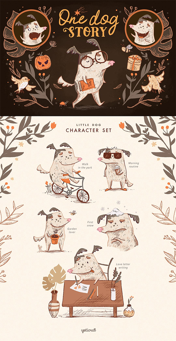 One Dog Story • Character set