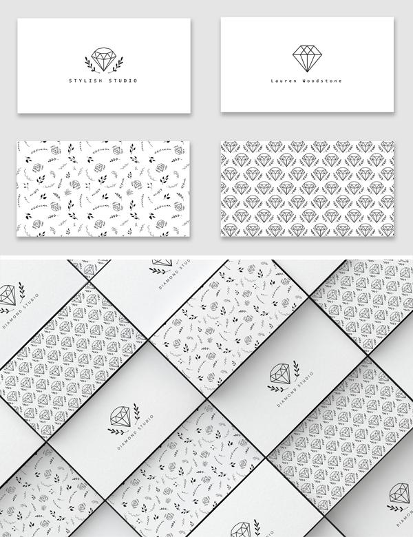 Diamonds Business Card templates