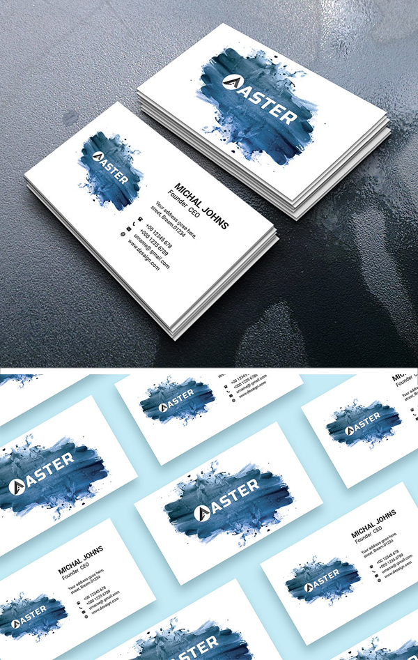 Water Effect Business Card
