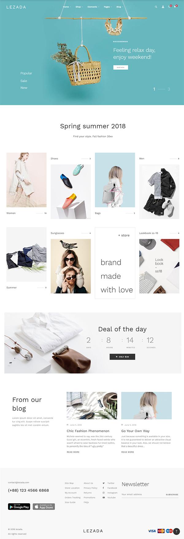 Lezada - Minimal & Creative WooCommerce WordPress Theme