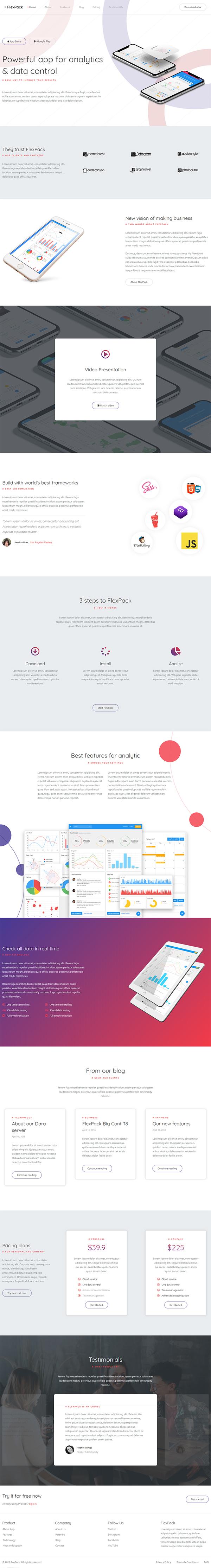 FlexPack - App & Software Responsive HTML Template