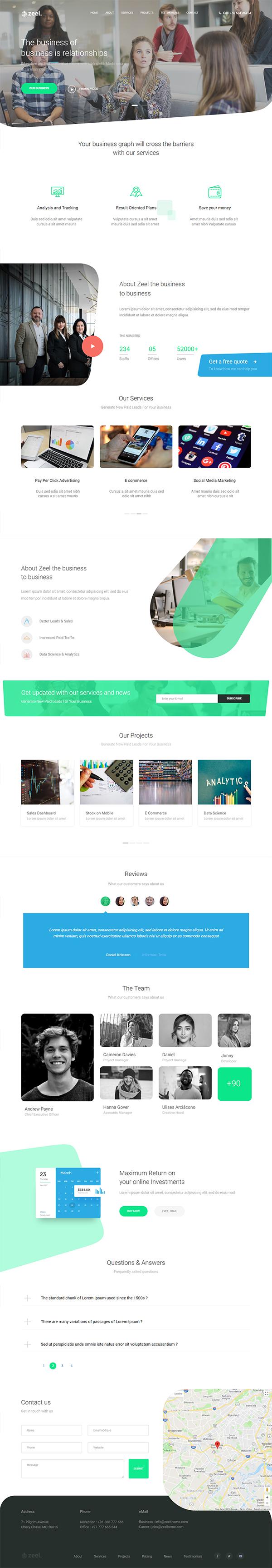Zeel - Multipurpose HTML Template