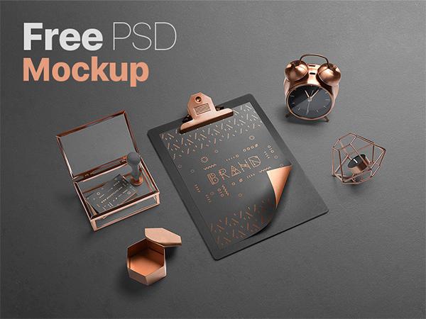 Awesome PSD Mockup Branding Scene
