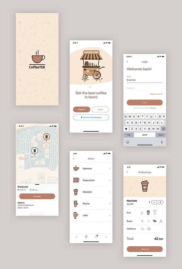 Coffee App PSD Template