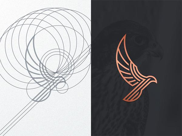 Luxury Falcon Logo Design