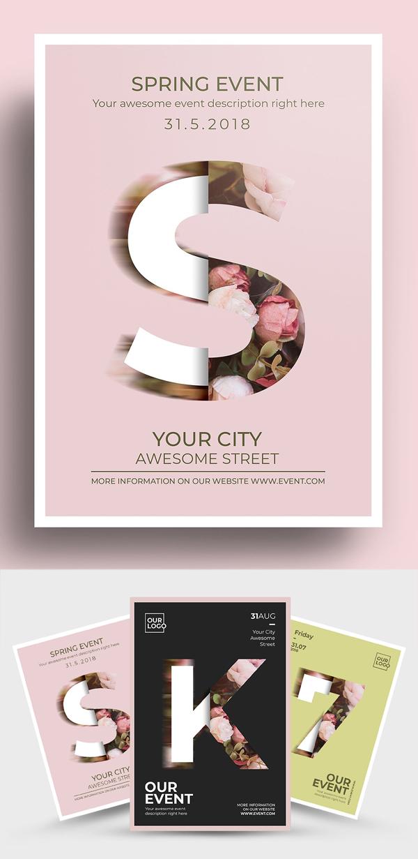Elegant Floral Poster Flyer Design