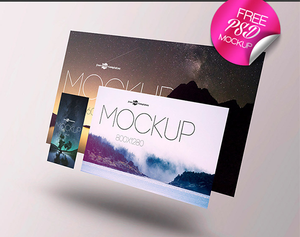 Free Screens Presentation Mock-up in PSD