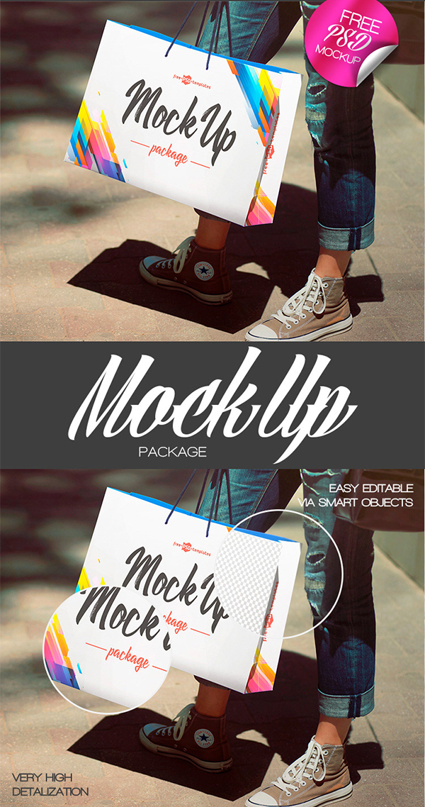 Free Package Mock-up in PSD