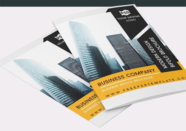 Free Business Company Bi-Fold Brochure In PSD