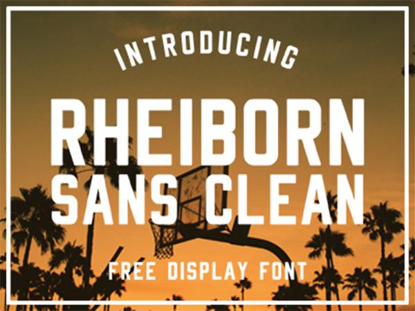 Rheiborn Sans Clean - Free Font
