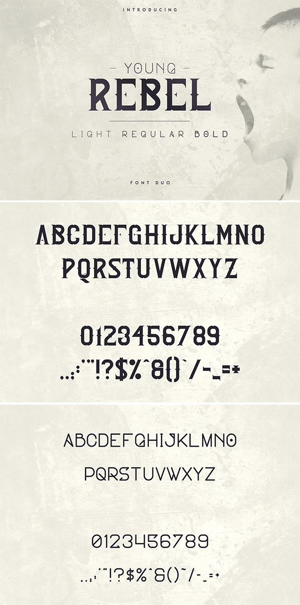 Young Rebel Font Duo Free font