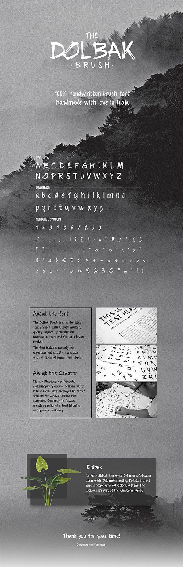 Amazing Dolbak Hand Made Brush Font Free Download