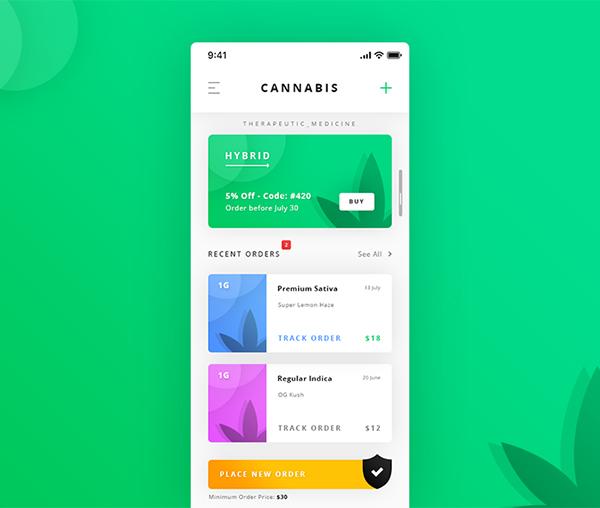 Cannabis Dashboard App Freebies