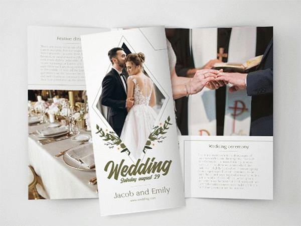 Free Wedding Tri-Fold Brochure in PSD