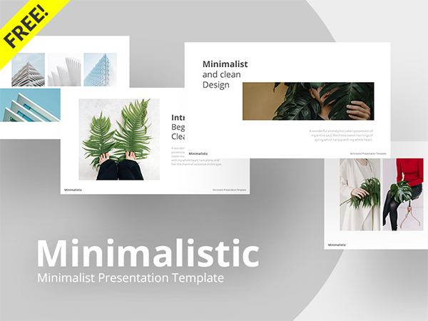 Free Minimalistic Powerpoint Template