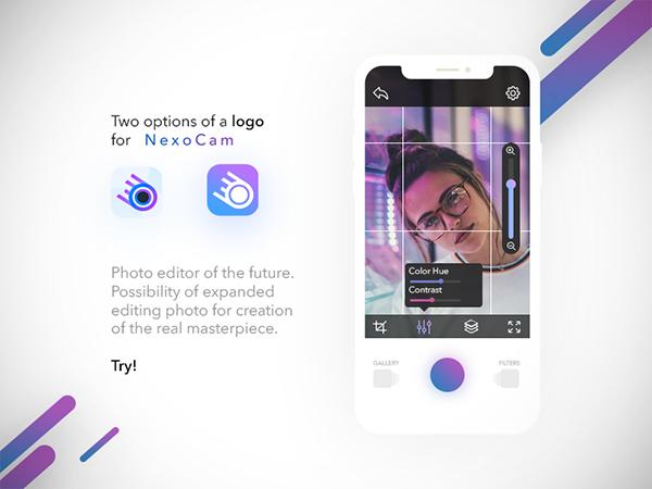 Camera UI + App Icon PSD