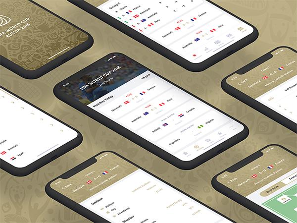 Freebie Fifa World Cup App Concept