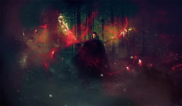 Create Dark Summoner Photo Effect in Photoshop