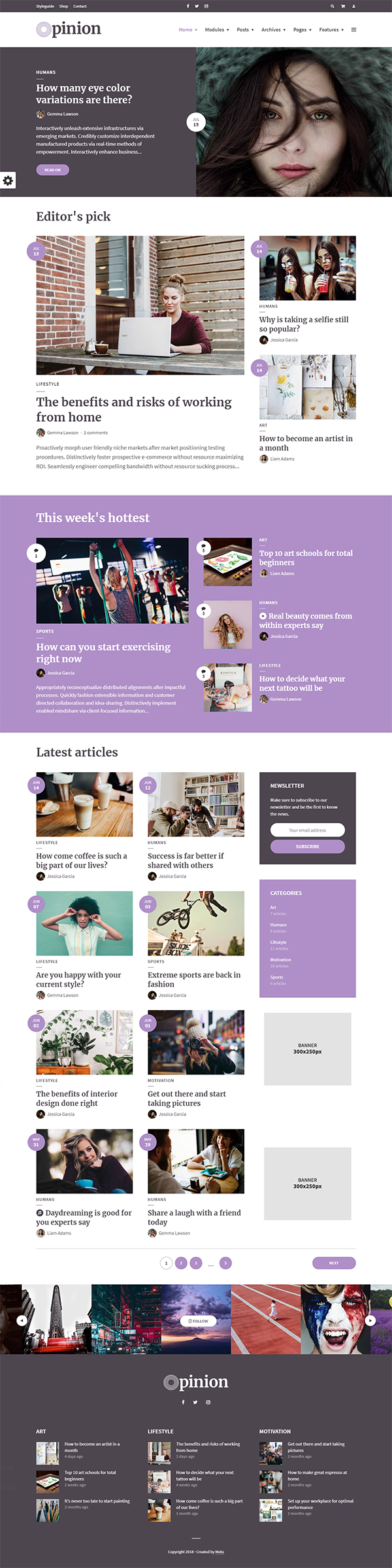 Opinion - Modern News & Magazine Style WordPress Theme