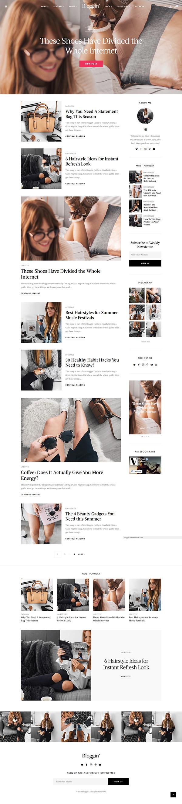 Blggn - A Responsive Blog & Shop WordPress Theme