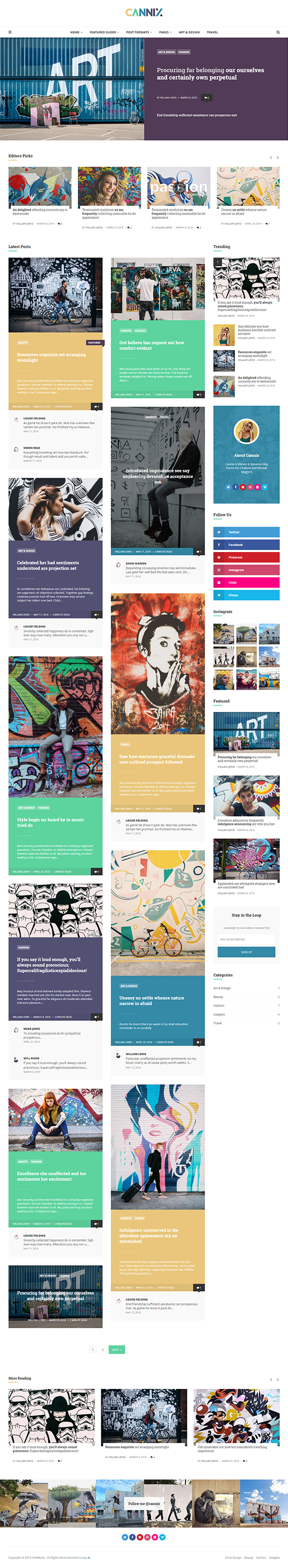 Cannix - A Vibrant WordPress Theme for Creative Bloggers