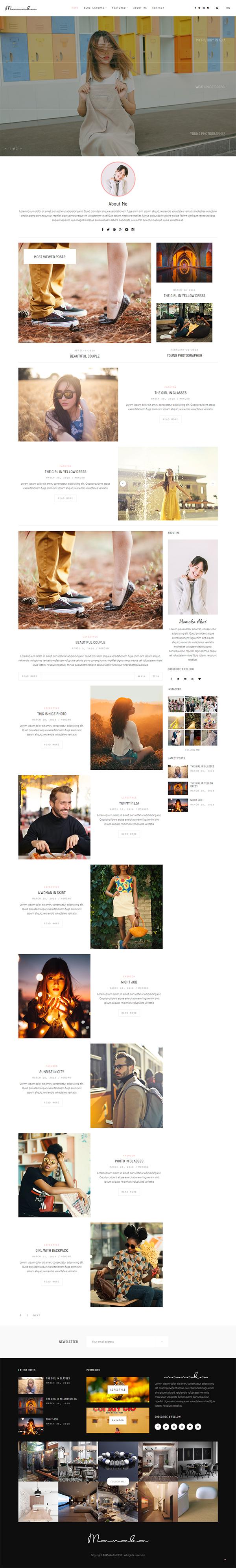 Momoko - Personal WordPress Blog Theme