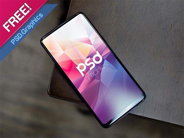 Full Vision Display Mobile Mockup [FREE PSD]