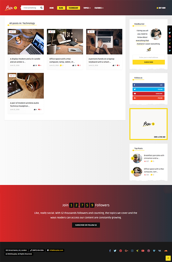 Bouplay WP - A WordPress Theme for Bloggers