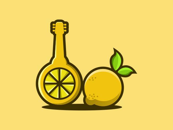 Lemon Guitar Logo Design