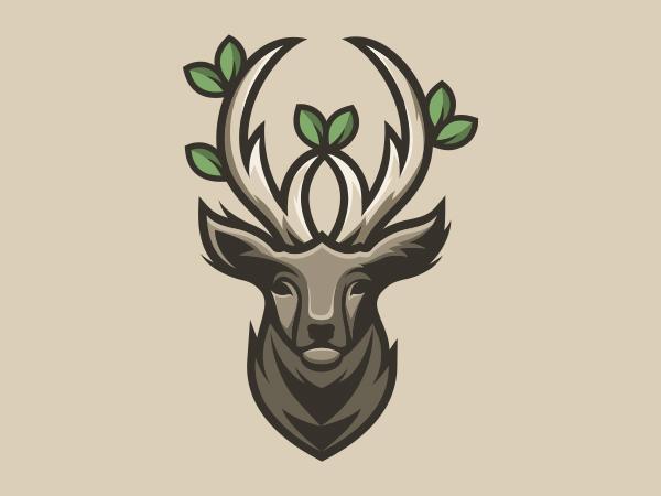 Deer horn foliage Logo
