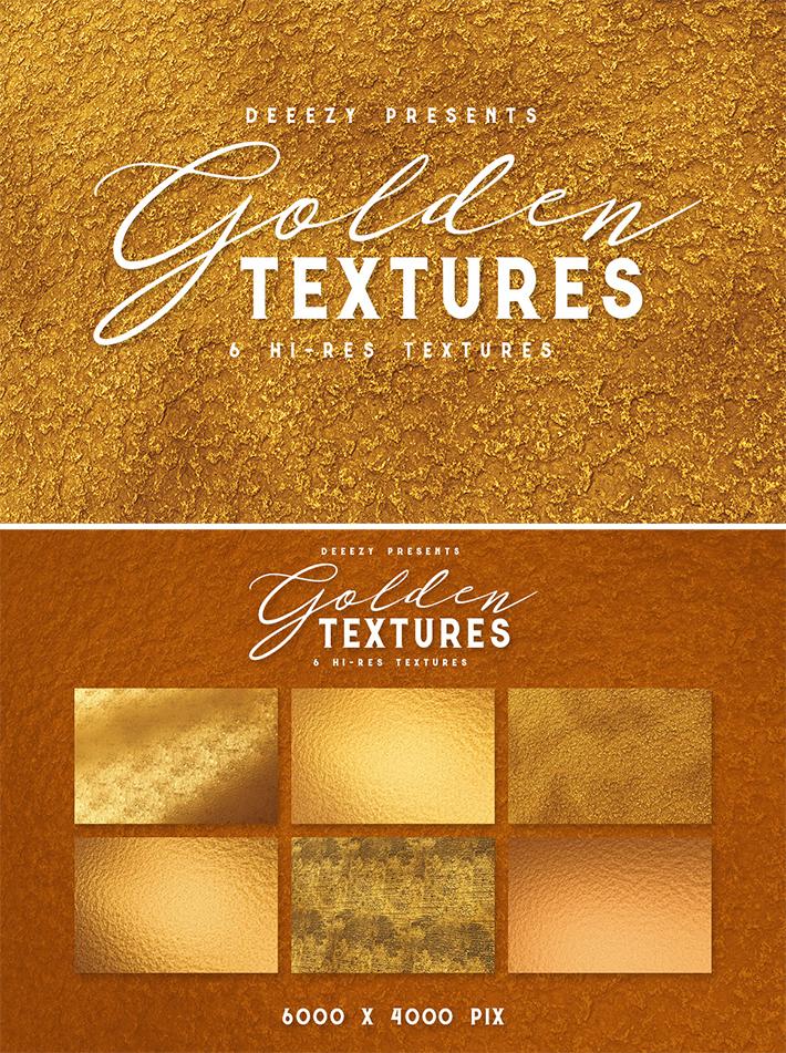 6 Free Golden Textures