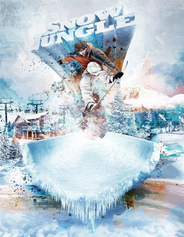 Photoshop Tutorial Extreme Snowboarding Wallpaper