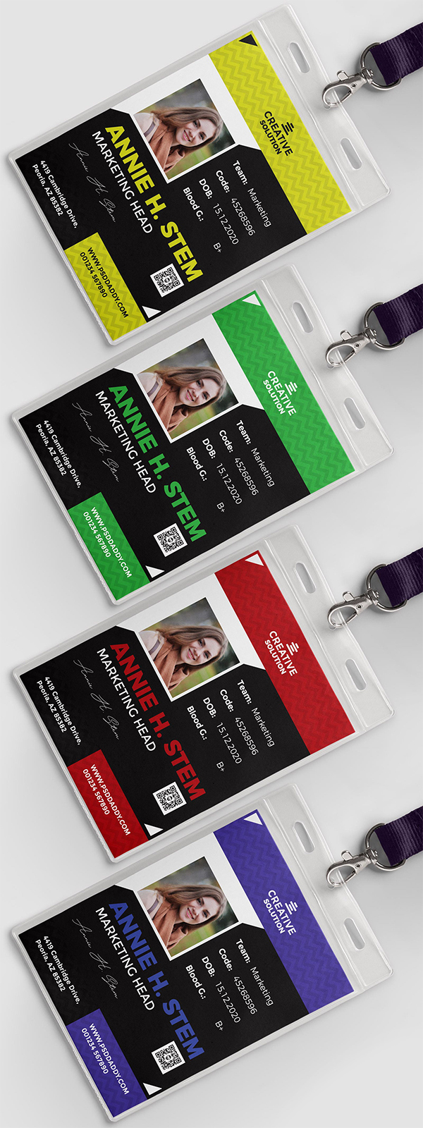 Office ID Card Design PSD Set