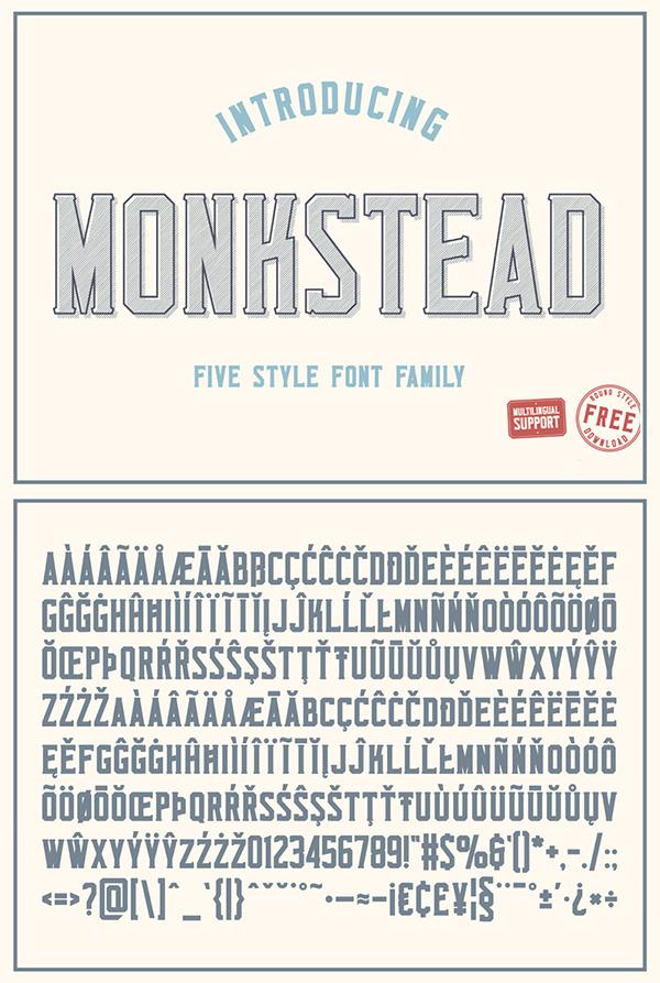 Monkstead Free Font